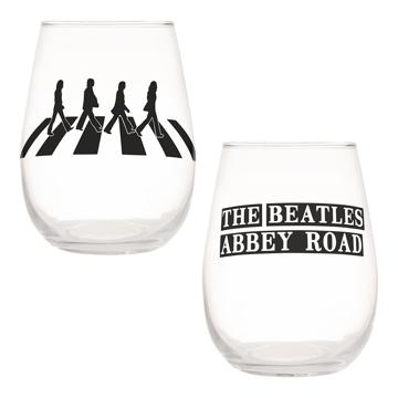 Picture of Beatles Glasses: Abbey Road 2 pc. 18 oz. Contour Glass Tumblers