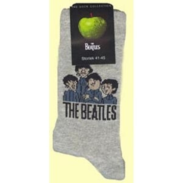 Picture of Beatles Socks: Men's Cartoon Group (Grey)