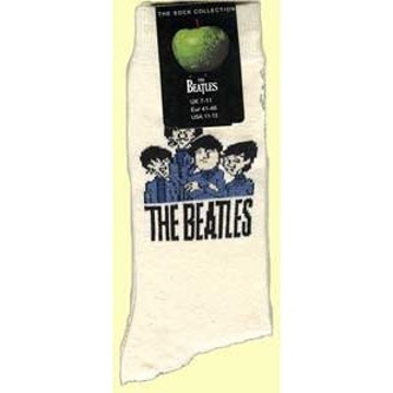 Picture of Beatles Socks: Men's Cartoon Group (Cream)