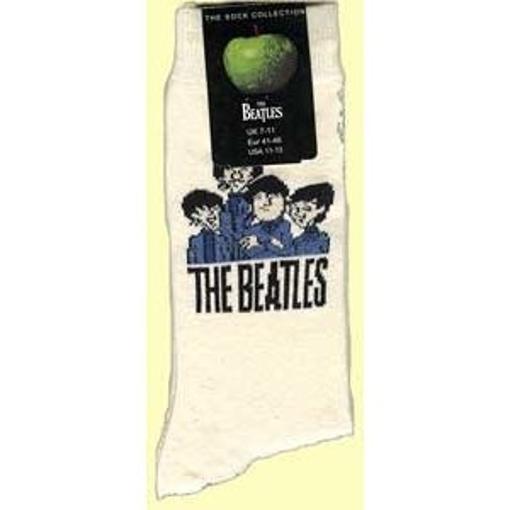 Picture of Beatles Socks: Men's Cartoon Group (Cream)