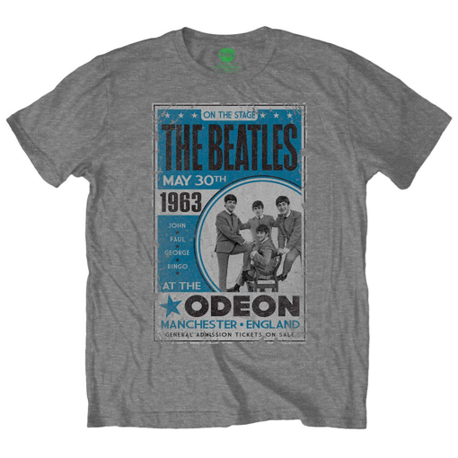 Picture of Beatles Adult T-Shirt: Odeon Manchester 1963 Poster