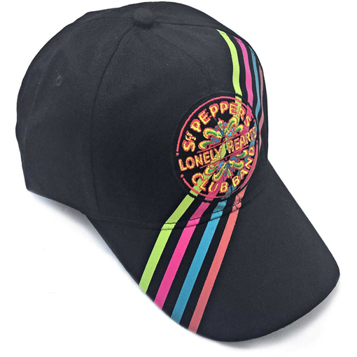 Picture of Beatles Cap: The Beatles Sgt. Pepper's Stripes and Drum Seal