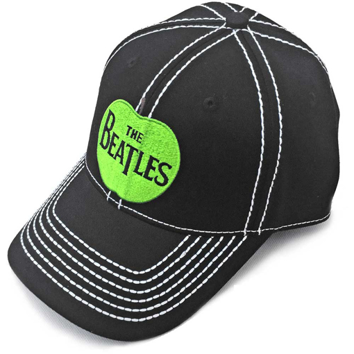 Picture of Beatles Cap: The Beatles Apple Logo Black with White Lines