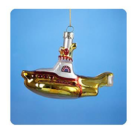 Picture of Beatles Ornament: The Beatles Glass Yellow Submarine