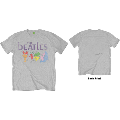 Picture of Beatles Adult T-Shirt: White Album Color Faces