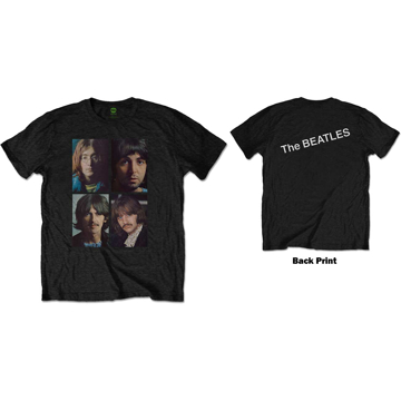 Picture of Beatles Adult T-Shirt: White Album Photo Faces