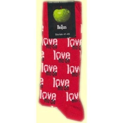 Picture of Beatles Socks: Women's Love Me Do (Red)