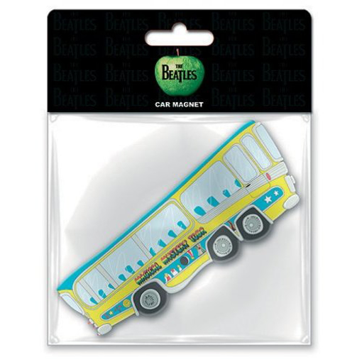 Picture of Beatles Rubber Car Magnet:  Magical Mystery Tour Bus