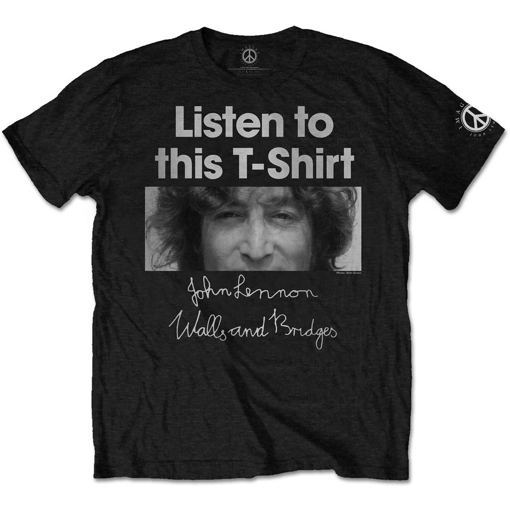 Picture of Beatles Adult T-Shirt: John Lennon Listen