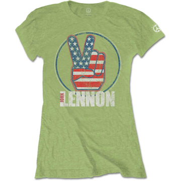 Picture of Beatles Jr's T-Shirt: John Lennon Peace US Flag