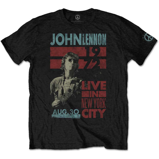 Picture of Beatles Adult T-Shirt: John Lennon Live NYC