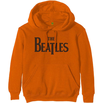 Picture of Beatles Hoodie:  Unisex Pullover Hoodie Drop T Logo in Orange