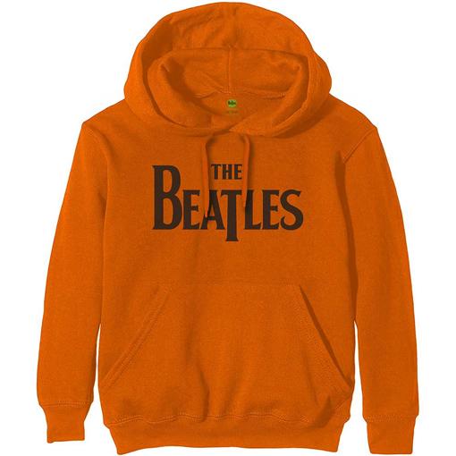 Picture of Beatles Hoodie:  Unisex Pullover Hoodie Drop T Logo in Orange