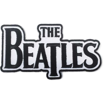 "Picture of Beatles Patches: Drop T Logo ""Black on White"""
