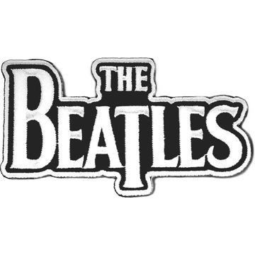 "Picture of Beatles Patches: Drop T Logo ""White on Black"""