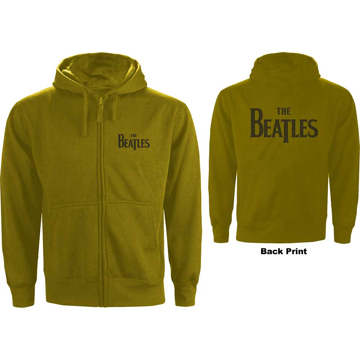 Picture of Beatles Hoodie:  Unisex Zipped Hoodie Drop T Logo in Green