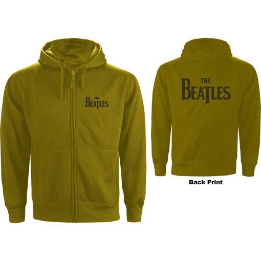Picture of Beatles Hoodie:  Unisex Zipped Hoodie Drop T Logo in Green