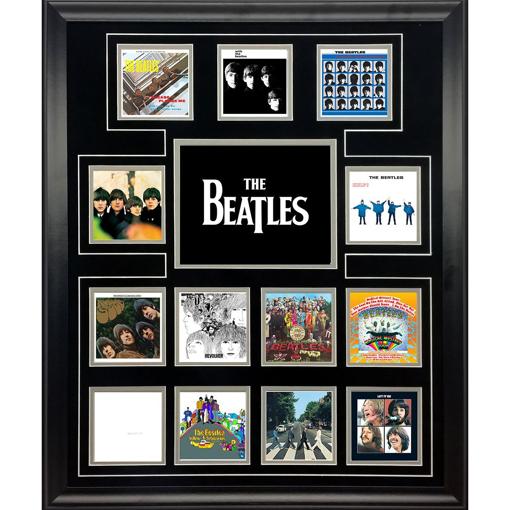"Picture of Beatles ART: The Beatles ""UK Album Covers"" framed presentation"