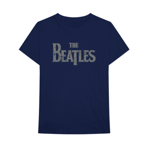 Picture of Beatles Adult T-Shirt: Classic Drop-T Distressed - Blue