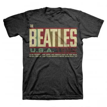 Picture of Beatles Adult T-Shirt: USA Tour 1964