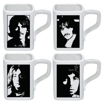 Picture of Beatles Mugs: White Album 4 piece Mug Set