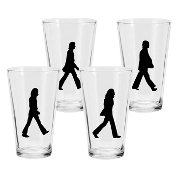 "Picture of Beatles Drinkware: ""Abbey Road"" 16 oz - 4 pc. Glass Set"