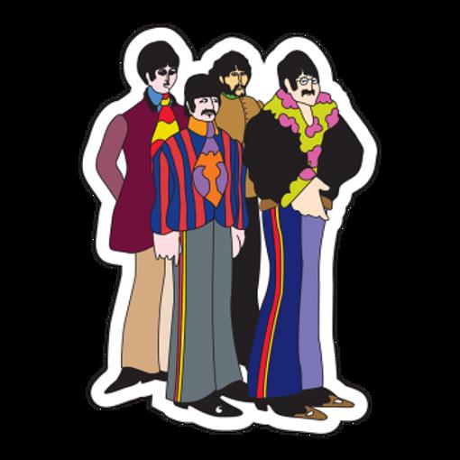 Picture of Beatles Sticker:  Yellow Submarine Cartoon Sticker