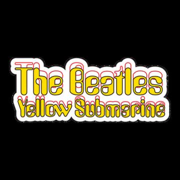 Picture of Beatles Sticker:  Yellow Submarine Logo Sticker
