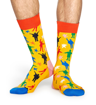 "Picture of Beatles Socks: Happy Socks Men's ""Help!"" Socks"