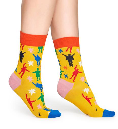 "Picture of Beatles Socks: Happy Socks Women's ""Help!"" Socks"