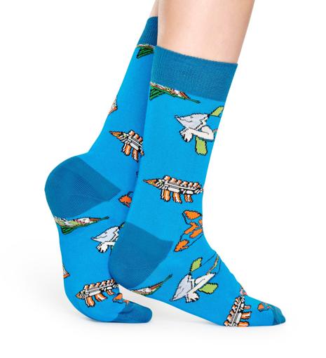 Picture of Beatles Socks: Happy Socks Women's Fish & Whales Socks
