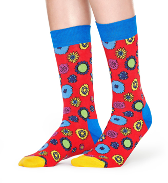 Picture of Beatles Socks: Happy Socks Women's Flower Power Socks