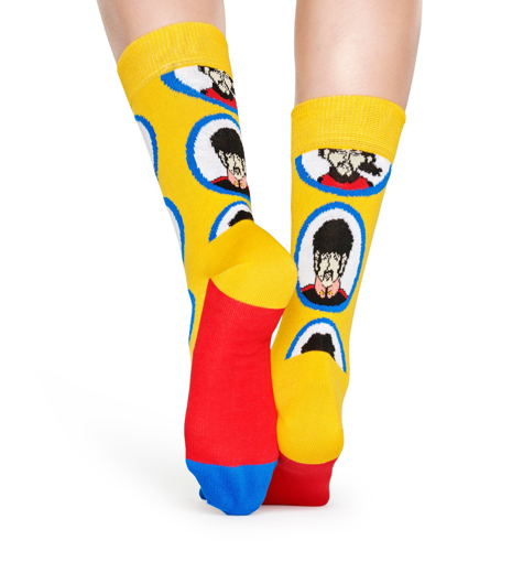 Picture of Beatles Socks: Happy Socks Women's Yellow Submarine Porthole Socks