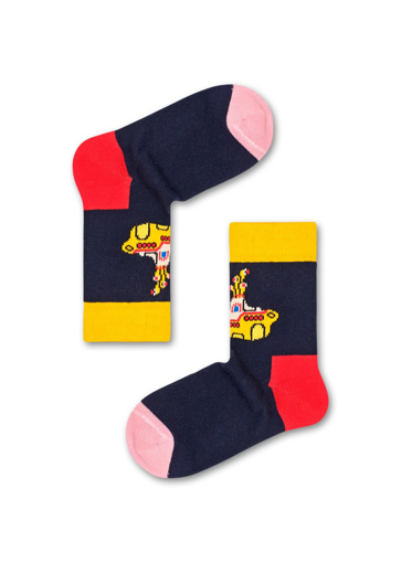 Picture of Beatles Socks: Happy Socks Kid's Yellow Submarine Socks