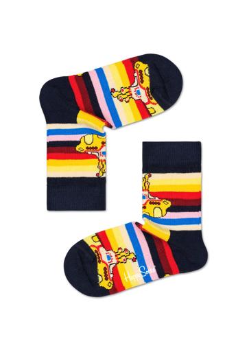 Picture of Beatles Socks: Happy Socks Kid's Yellow Submarine Stripe Socks