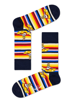 Picture of Beatles Socks: Happy Socks Women's Yellow Submarine Striped Socks