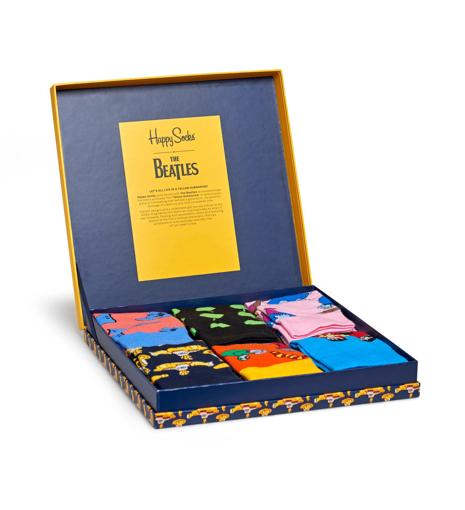 Picture of Beatles Socks: Happy Socks Unisex LP SIZE BOXSET 6 pairs of Yellow Submarine Socks