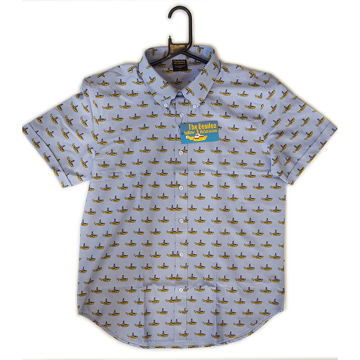 Picture of Beatles Dress Shirt: Light Blue Yellow Submarine Button Down