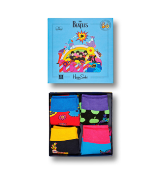 Picture of Beatles Socks: Happy Socks Kid's Box Set 4 Pairs of  Yellow Submarine Socks