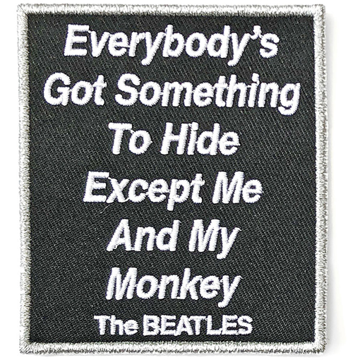 Picture of Beatles Patches: Everybody's Got Something to Hide Except Me and My Monkey - White Album