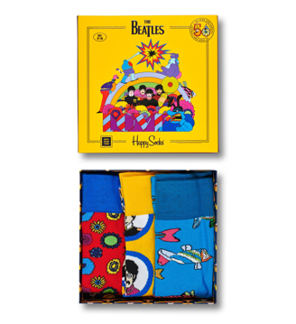 Picture of Beatles Socks: Happy Socks Unisex EP SIZE BOXSET 3 pairs of Yellow Submarine Socks