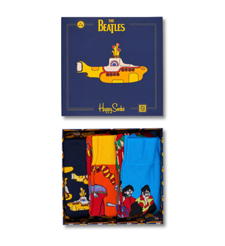 Picture of Beatles Socks: Happy Socks Unisex EP SIZE BOXSET 3 pack of Yellow Submarine Socks