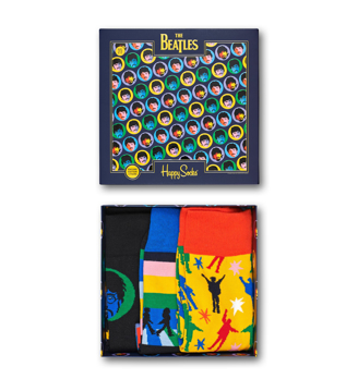 Picture of Beatles Socks: Happy Socks Unisex EP SIZE BOXSET 3 pairs of Beatles Happy Socks