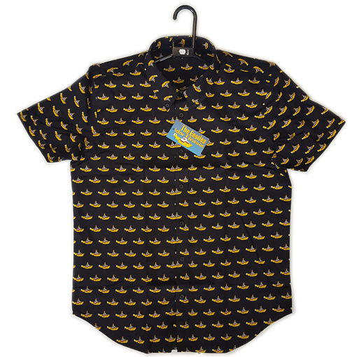 Picture of Beatles Dress Shirt: Black Yellow Submarine Button Down