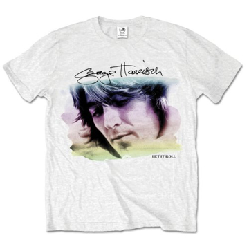Picture of Beatles Adult T-Shirt: George Harrison Color Portrait