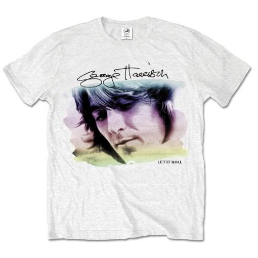 Picture of Beatles Adult T-Shirt: George Harrison Color Portrait