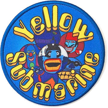 Picture of Beatles Patches: Yellow Submarine Baddies Circle
