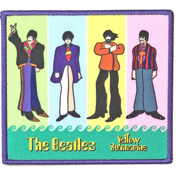 Picture of Beatles Patches: Yellow Submarine Band in Stripes
