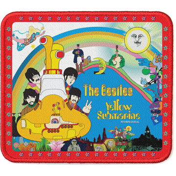 Picture of Beatles Patches: Yellow Submarine Stars Border