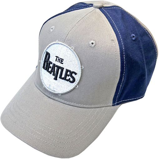 Picture of Beatles Cap: The Beatles Drum Logo Two Tone (Grey Blue)